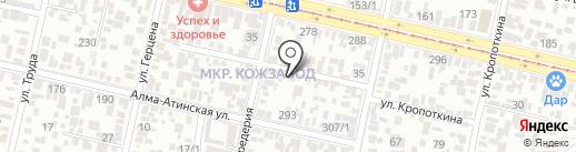 Мастеровой на карте Краснодара