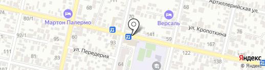 Апирит на карте Краснодара