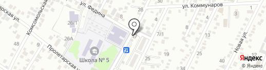 Студия спортивной акробатики на карте Яблоновского