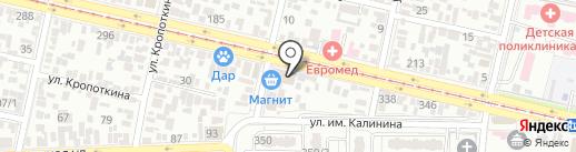 Народная стоматология на карте Краснодара