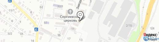 Баня на Заводской на карте Яблоновского