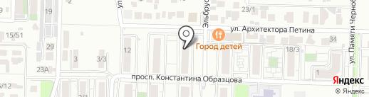 Калейдоскоп на карте Краснодара