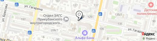 Пилочка на карте Краснодара