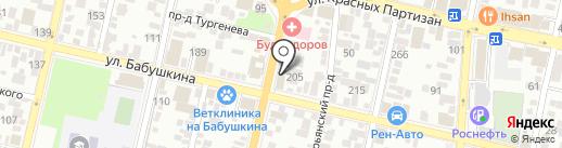 ВИСПА на карте Краснодара