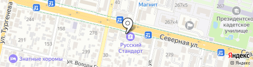 Юнность на карте Краснодара
