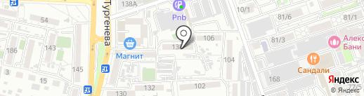 Луч на карте Краснодара