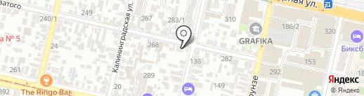 Территория Танцев на карте Краснодара