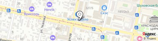 Индиго на карте Краснодара