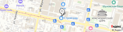 Светлая полоса на карте Краснодара