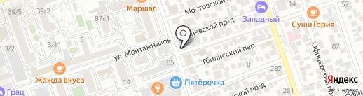 Георгиевский на карте Краснодара