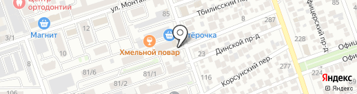 Зоовита на карте Краснодара