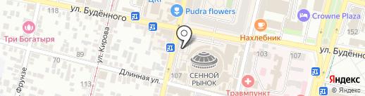 Столото на карте Краснодара