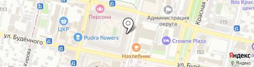 Море и Вафли на карте Краснодара