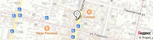 Уни на карте Краснодара