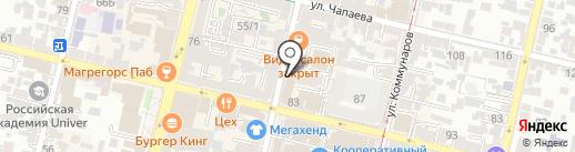 Разгуляй на карте Краснодара