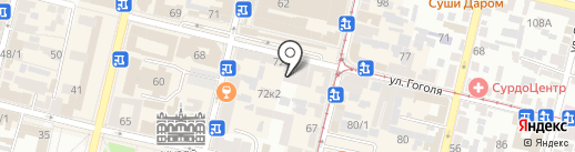 Еркрамас на карте Краснодара
