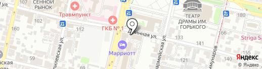 КБ Газтрансбанк на карте Краснодара