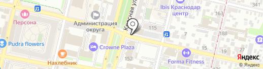 Бест Вэй на карте Краснодара