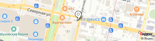 Царьхлеб на карте Краснодара