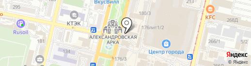 Севна на карте Краснодара