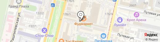 Пехотинец на карте Краснодара