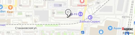 Зелёный Пеликан на карте Краснодара