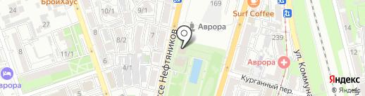 Пиратская пристань на карте Краснодара