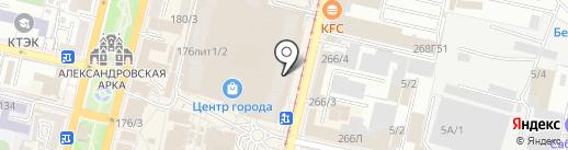 Материя на карте Краснодара