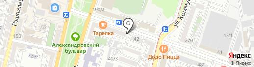 Евромода на карте Краснодара