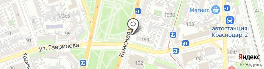 Копик на карте Краснодара