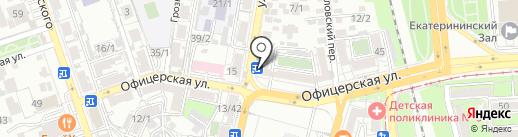 Каневской на карте Краснодара