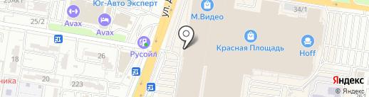 Дюром на карте Краснодара
