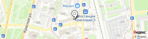 Склад обуви на карте Краснодара