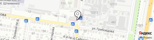 Курсант на карте Краснодара