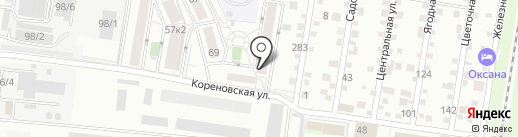 Городок 109 на карте Краснодара
