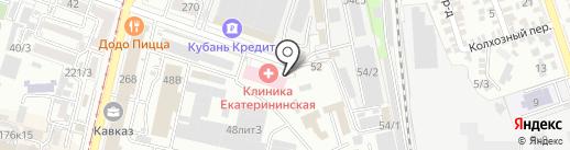 Централизованная бухгалтерия департамента образования администрации муниципального образования г. Краснодар на карте Краснодара