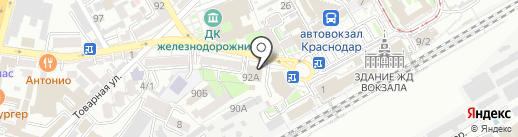 Краснодарская таможня на карте Краснодара