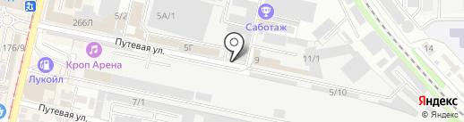 Студия дизайна интерьеров на карте Краснодара