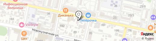 Новая Кубань на карте Краснодара