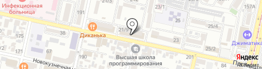 Магазин мясной продукции на карте Краснодара