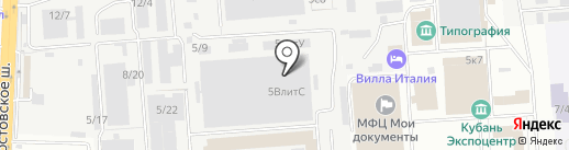 Компания Метстройком на карте Краснодара