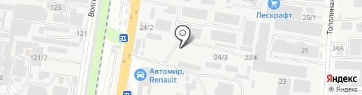 ТД ЛЮАН на карте Краснодара