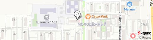 Продовольственный магазин на карте Краснодара