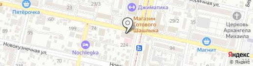Баня на карте Краснодара