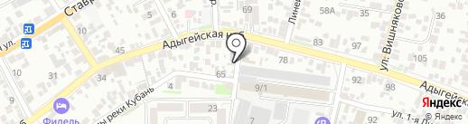 Валюша на карте Краснодара