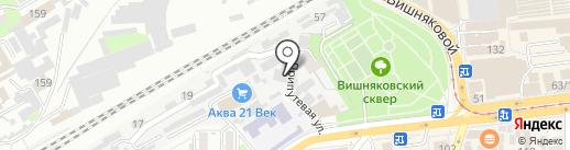 Краснодарская дистанция пути на карте Краснодара