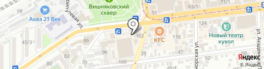 Леtto на карте Краснодара