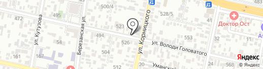 Служба эвакуации на карте Краснодара