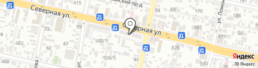Крепость на карте Краснодара