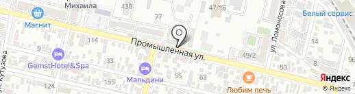 СТО123 на карте Краснодара